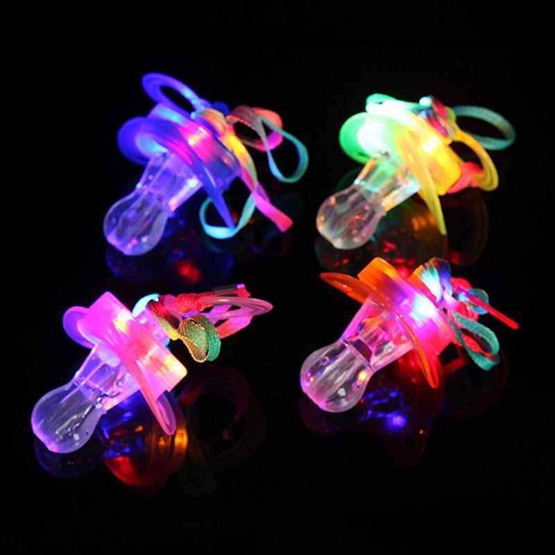 Kinder Schnuller Dummy Nippel LED Licht Blinkt Pfeife Für Bar Nacht Club Party Projekte Spielzeug