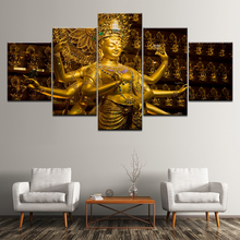 Canvas Painting Thousand Hands Buddha 5 Pieces Wall Art Modular Wallpapers Poster Print for living room Home Decor