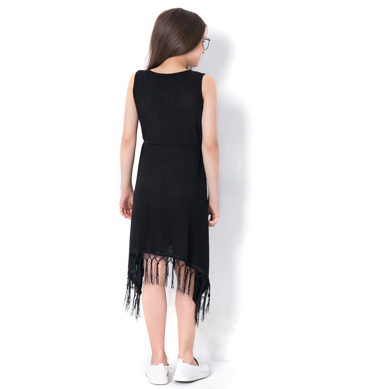 2018 Summer New Arrival Teenager Girls Black Tassel Dress Size 6 8 10 12 14  Years. sku  32881135307 044acef50c6b