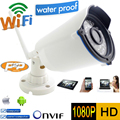 Wifi câmera Ip 1080 p Full HD de segurança CCTV à prova d ' água sem fio P2P à prova de intempéries ao ar livre infravermelho Mini Onvif visão nocturna do IR Cam