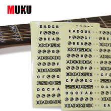 Guitar Fretboard Music Notes Stickers 1 Pcs 6 String guitar