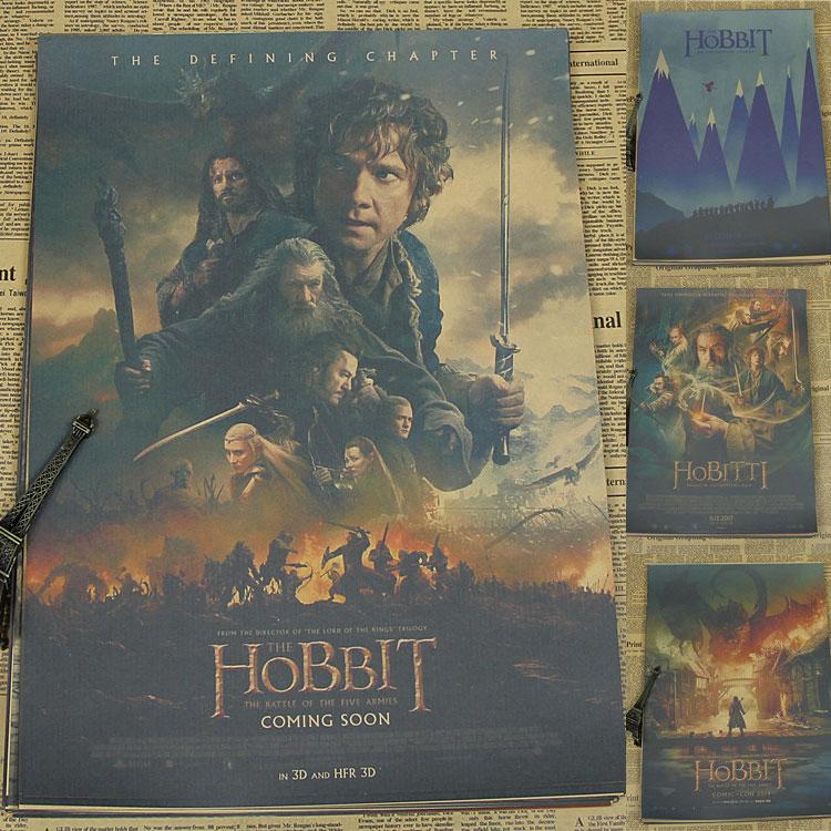 The Hobbit movie poster army battle magic /Kraft Poster/Wall sticker