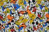 160X100cm Mickey Mouse Goofy Donald Duck Elastic Knitted Cotton Fabric For Baby Boy Clothes Sewing Patchwork