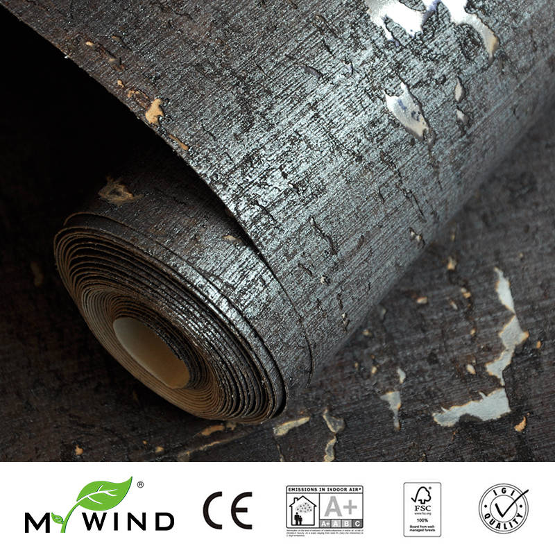 2019 MY WIND Iron Gray Wallpapers Luxury 100%Natural Material Safety Innocuity 3D Wallpaper In Roll Decor European Aristocracy