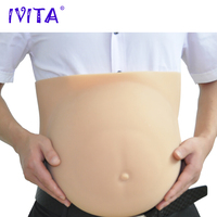 IVITA 4400g Silicone Belly Drag Queen Artificial Silicon Crossdresser Fake Pregnant 8 10 Months Halloween Gestante Transvestite