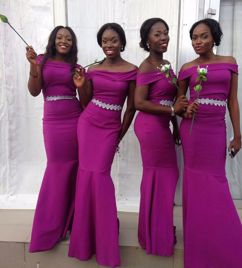 Popular african american bridesmaid dresses buy cheap african cheap bridesmaid dresses african american honor of maid dress wedding party guest formal gown mermaid lace ombrellifo Images