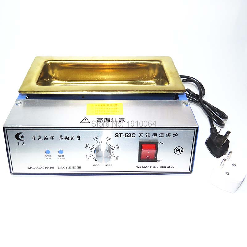 free shipping titanium alloy Lead-free Solder Pot / solder machine Soldering Desoldering Bath capacity 200X75X45mm 700W5500g ms 80 lead free digital soldering pot environment friendly solder pot