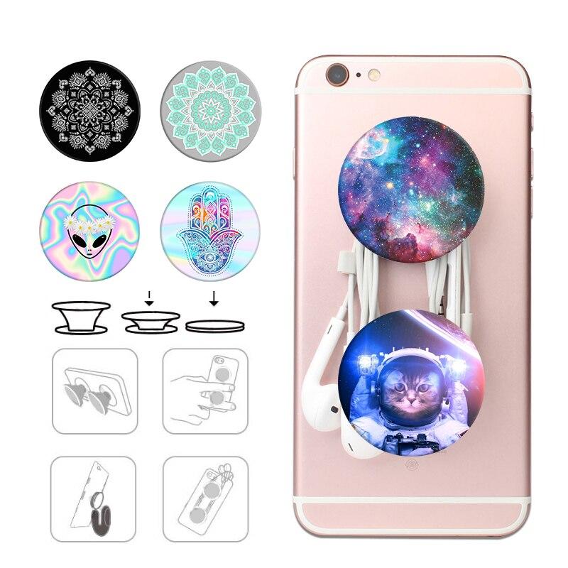Popsoket Phone Pops Holder Round попсокет Hand Grip Finger Ring Marble Pocket Socket Mobile Popsocet Expanding Pipsocket Stand