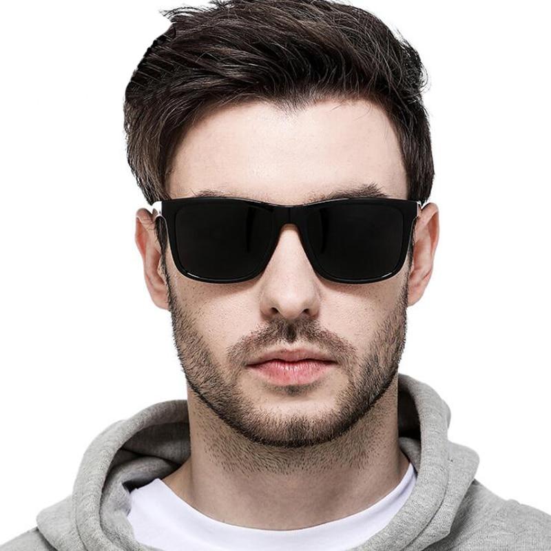 2018 Brand Designer Multi Color Square Polarized Sunglasses Mens HD Vision Driving Sun Glasses Men Women Oculos Masculino