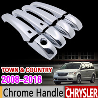 For Chrysler Town Country 2008 2016 Chrome Handle Cover Trim Set Voyager Dodge Caravan VW Routan