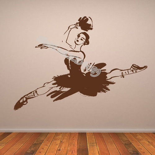 Ballerina Leaping Wall Sticker Elegant Ballet Dancer Home Decor Dance Studio Girls Bedroom Art Mural Adesivo De Parede Eb269 Comfortable Feel Wall Stickers
