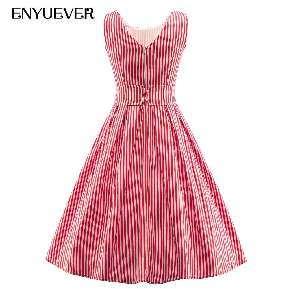 Enyuever Vestidos Robe Rockabilly 1950 s de La Vendimia Pin Up ...