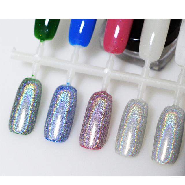 3pcs Nail Art Decorations Professional Manicure Tools Shinning Glitter Powder Dust Uv Gel Polish