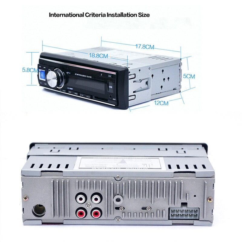 Venta caliente 12 V Del Coche Del Bluetooth de Radio Estéreo Reproductor de MP3