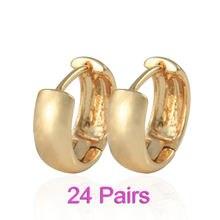 Женские золотые серьги кольца 24 пары e0208