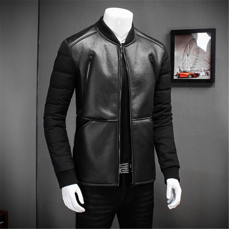 AILOOGE Top Quality Coat 2017 New White Duck  Winter Jackets Parka Men Fashion Stand Collar Solid Slim Fit Casual Men Coats Hot