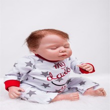 22 inch 55 cm Silicone baby reborn dolls, lifelike doll reborn A lovely doll sleeping pattern