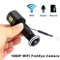 1080P Door Eye Wifi Camera H.264 1.78mm Lens Wide Angle FishEye Mini Peephole Door Wifi IP Camera TF Card