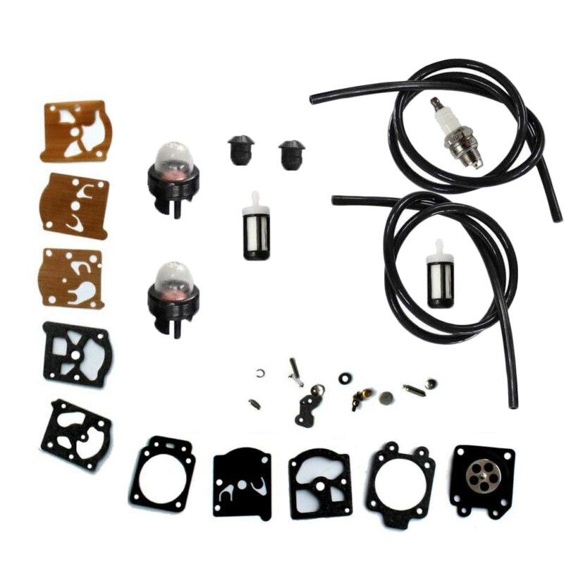 Carburetor Kit Primer Bulb Fuel Line Filter For STIHL FS36 FS40 FS44 Trimmer Carburetor Repair Kit in Tool Parts from Tools