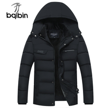2017 New Men's Casual Parkas Solid Fleece Winter Jacket Men Hooded Thick Padded Overcoat Man Jaqueta Masculino Plus Size 4XL