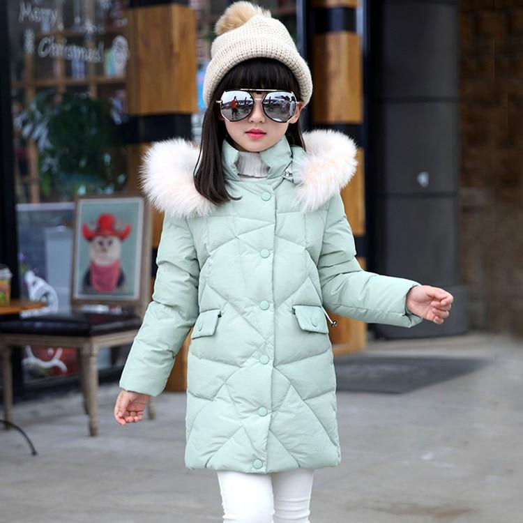 60ec99f828d0 Good quality 2016 Baby Girls Winter Coats Jacket Fur Collar Children ...