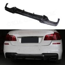 Углеродного волокна диффузор, губа на задний бампер для BMW 5 серия F10 M Tech M Sport 528i 530i 535i 550i седан 12-16 FRP стайлинга автомобилей