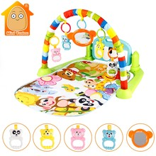 3 in 1 Baby Gym Puzzles Mat Educational Rack Toys Baby Music Play Mat With Piano Keyboard Infant Fitness Carpet Gift For Kids(China)