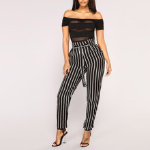 Women Stripe Slim Pants EL01