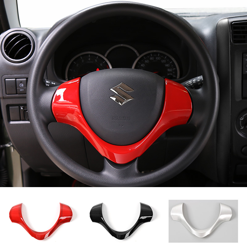 Mopai Auto Accessories New Arrival ABS Steering Wheel U-Shape Trim Cover Bezel 4 Colors for Suzuki Jimny 2008 up