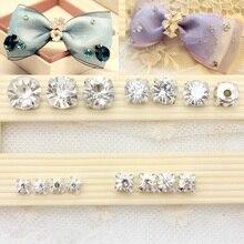 4-6 мм шитье прозрачными кристаллами коготь стразы с плоской задней стороной стеклянные камни пришить стразы кристалл для одежды платье ремесла 100 шт
