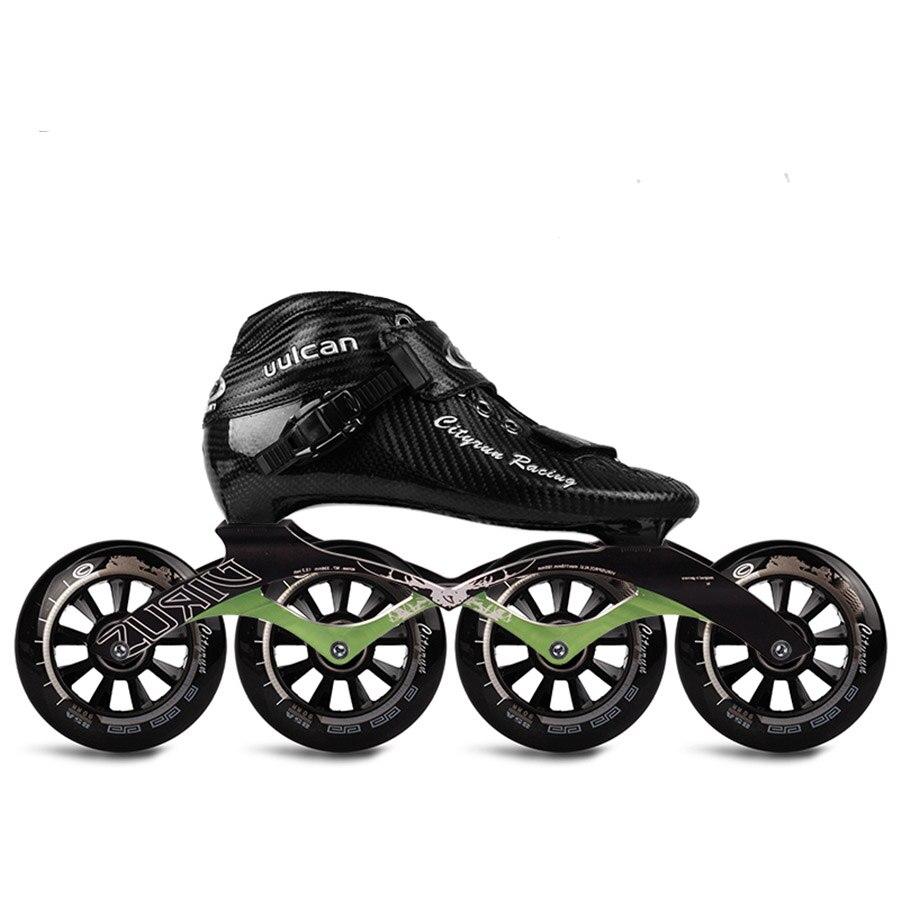 Cityrun Vitesse roller-skates Carbone fibre Professionnel Concurrence Patins 4 Roues Course De Patinage Patines Similaire Powerslide