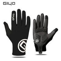 Giyo Перчатки Сенсорный экран Открытый Спорт Противоскользящим велосипед перчатки для мужчин женщина MTB дорожный велосипед Полный пальцев т...