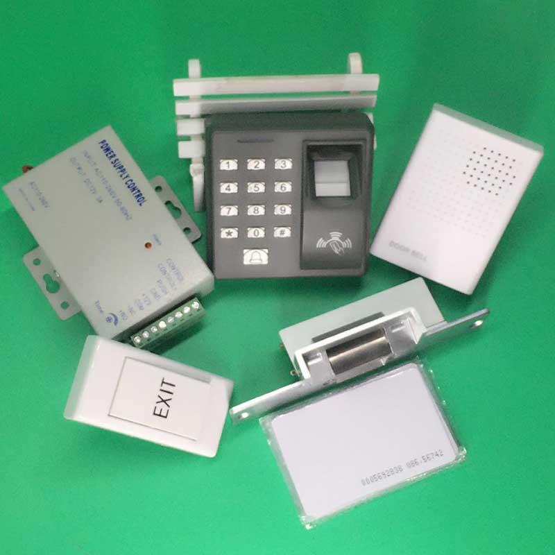 New Arrived Fingerprint+RFID Access Control System Kit+NO Electric Strike Lock+Exit +EM CardNew Arrived Fingerprint+RFID Access Control System Kit+NO Electric Strike Lock+Exit +EM Card