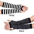 Luck Dog Winter Wrist Arm Hand Warmer Knitted Long Fingerless Gloves Mitten
