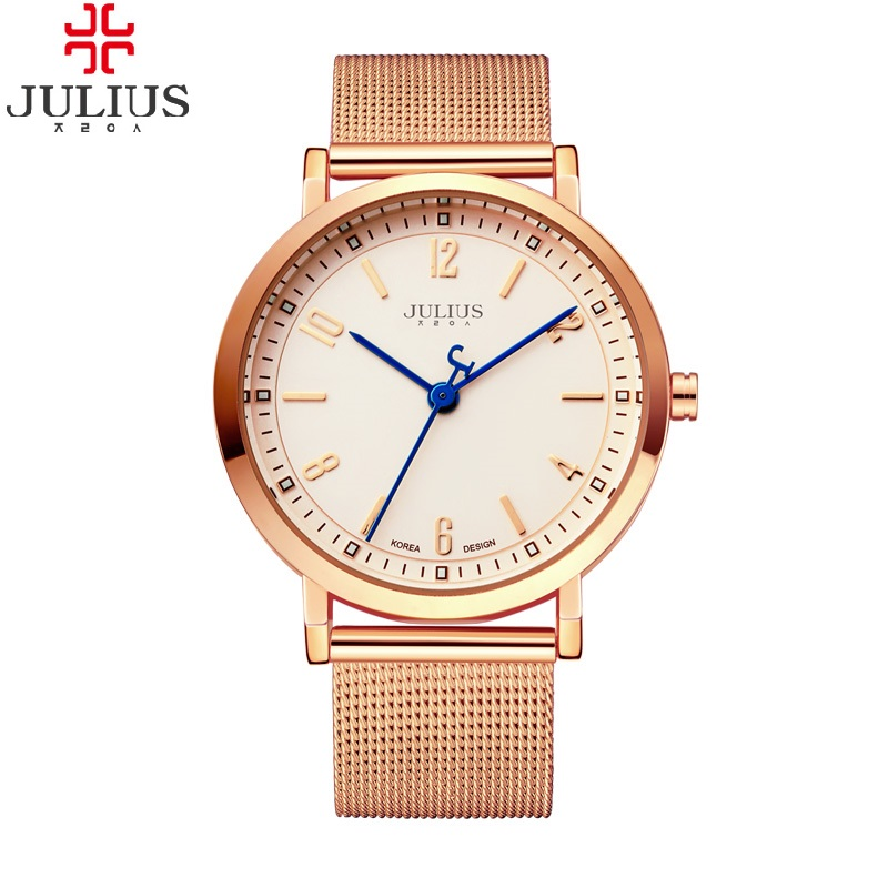 Fashion Top Luxury brand julius Watches men Stainless Steel Mesh strap Casual Business Quartz-watch man Clock Retro Sport watch xinge top brand luxury leather strap military watches male sport clock business 2017 quartz men fashion wrist watches xg1080