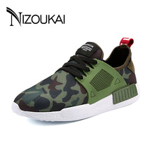 2017 News Men non-leather Casual Shoes Spring Autumn summer mens Footwear Men Lace-Up Camouflage shoe Zapatillas Hombre chaussures homme