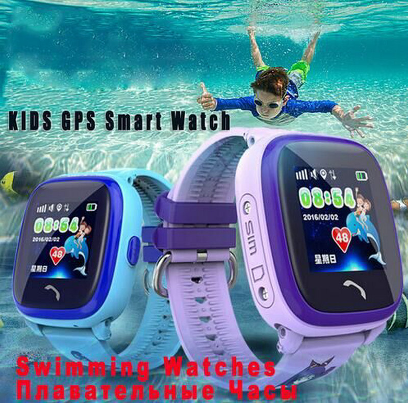 New IP67 Waterproof GPS baby smart watch kids Watch clock SOS Call Location Device Tracker children Safe Anti-Lost Monitor smart baby watch каркам q60 голубые
