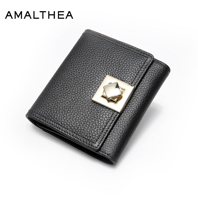 AMALTHEA Genuine Leather Wallet Female Porte Monnaie Femme Card Holder Walet Women Purses Ladies Purse Woman Wallets Hot AMWG084 ...