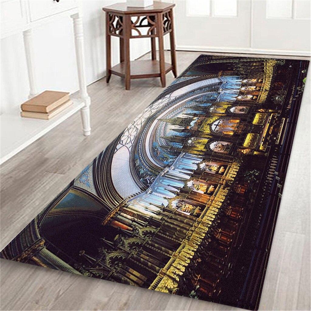 Notre Dame de Paris confortable carré flanelle cuisine tapis anti-dérapant tapis zone tapis polaire cuisine salle de bains tapis décor à la maison 5.9