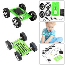 Hot 1 pcs DIY Solar Power Mini Powered Toy Car Kit Robot Moving Racer Children Educational Gadget Hobby Funny Set Gift