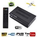 CÉU Tamanho Mini FTA DVB-S2 HD Receptor de Satélite Digital IPTV Combo Set Top BOX Suporte WIFI Biss Key Poder VU IKS Internet Share
