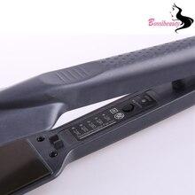 Buy online Grade Ceramic Hair Straightening Flat Iron Intelligent LED Professional Hair Curler Curling Straightener Irons