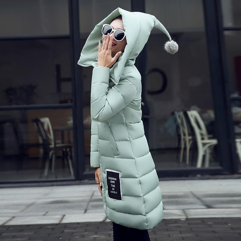 2016 New Fashion Down  Parkas Warm Winter Coat Women Light Thick Winter Hooded Elegant Casual Long Sleeve Jackets Women Coat