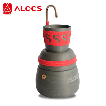 Portable Outdoor Coffee STOVE Camping Hiking Coffee Maker Pot with Coffee Cups with Bag Pouch