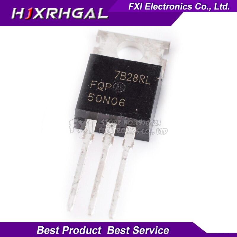 10pcs/lot FQP50N06 RFP50N06  TO-220 MOS 60V 50A TO-220 Original Authentic