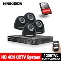 4CH Sistema de Vigilância de vídeo 720 p 1080 p HDMI USB 3g WIFI Sistema de CFTV canal 4 4 pcs SONY 1200TVL 1.0MP Sistema de Câmera de segurança