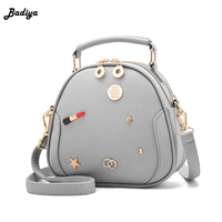 Herald Fashion PU Leather Oval Handbags tote Beautifully embellished Sequin Messenger Bag Crossbody Bag Casual Shoulder Bag Sac