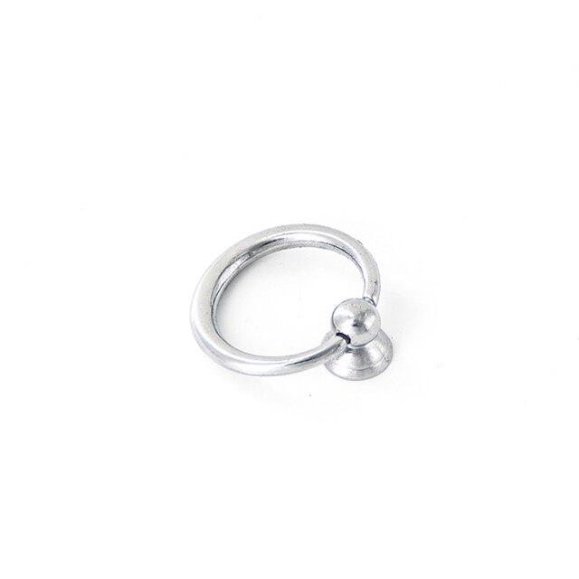 37mm*17mm Silver Drop Ring Drawer Knobs Dresser Handles Pulls Cupboard  Wardrobe Cabinet Knobs Jewelry
