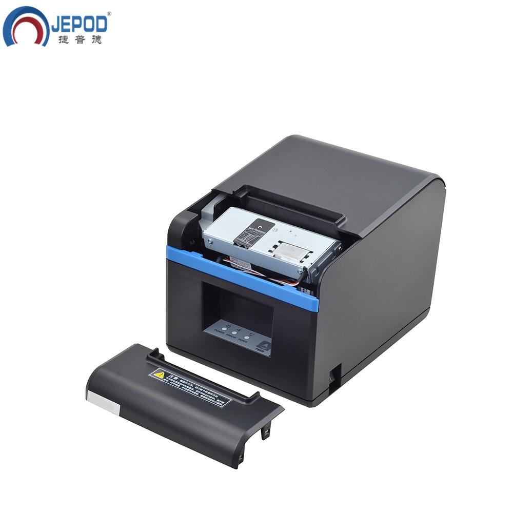 JEPOD XP N160II nieuwe aangekomen 80mm auto cutter ontvangst printer POS printer USB/LAN/USB + Bluetooth poorten voor Melk thee winkel - 4