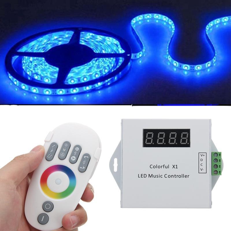Variateur d'écran tactile à distance sans fil de la télécommande RF de rvb LED pour le contrôleur de bande de rvb de LED